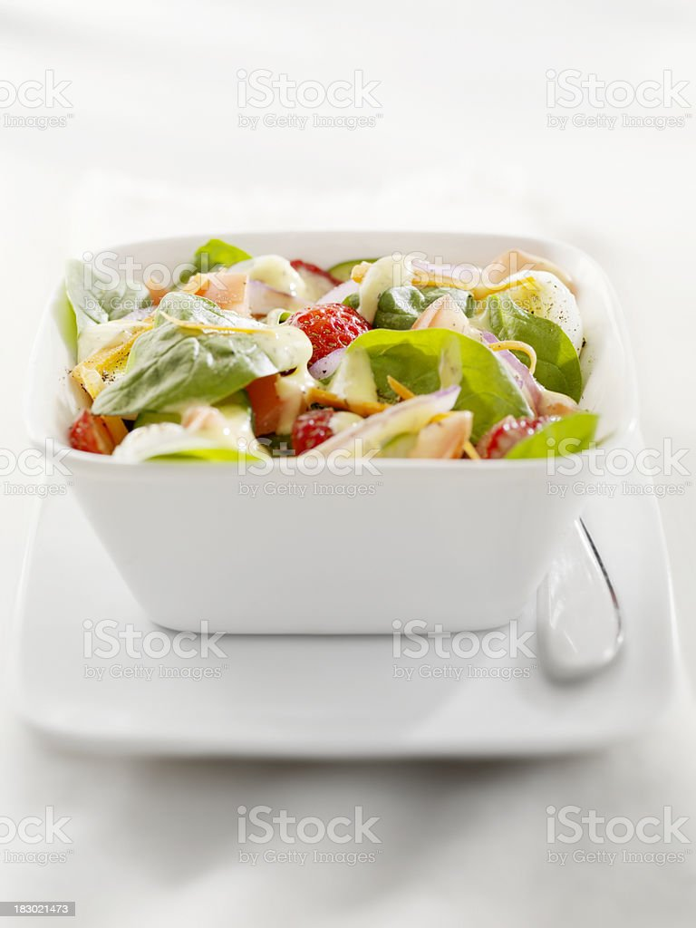 Spinach Salad with Strawberries royalty-free stock photo