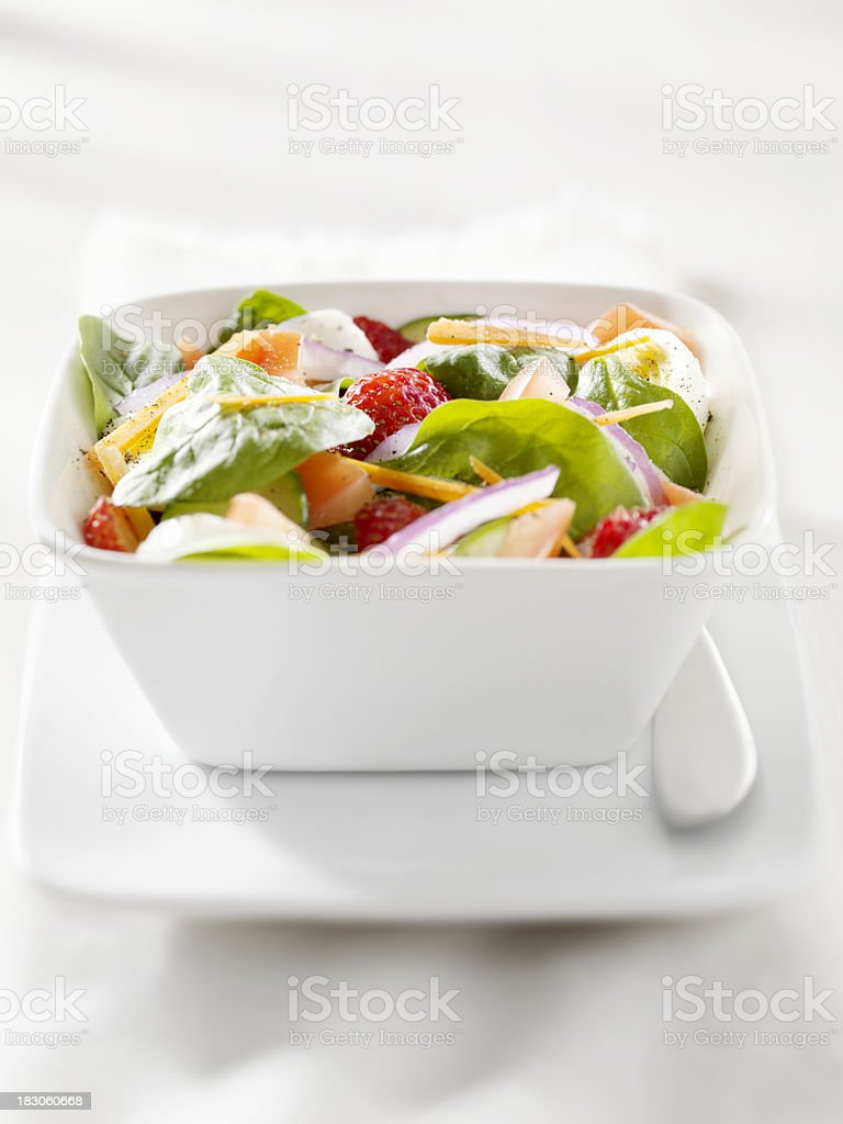 Spinach Salad with Strawberries stock photo
