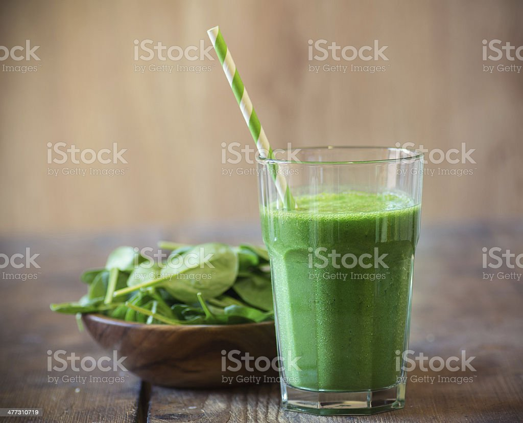 Spinach smoothie stock photo