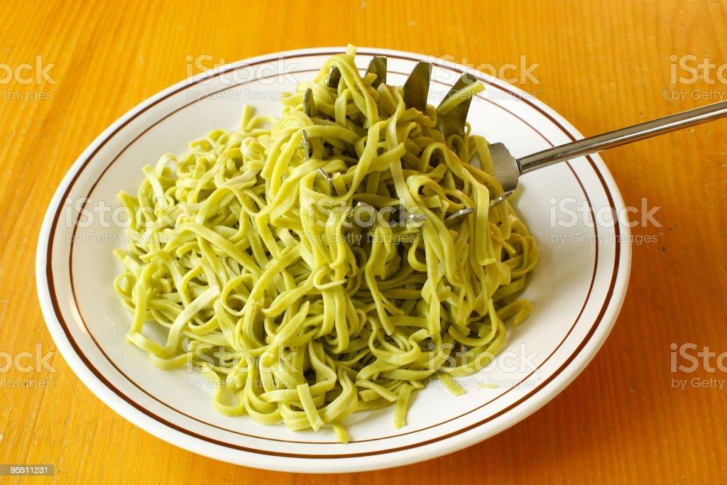 Spinach Tagliolini stock photo