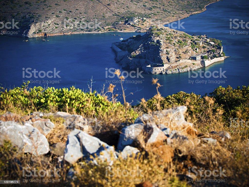 Spinalonga, Crete, Greece. royalty-free stock photo