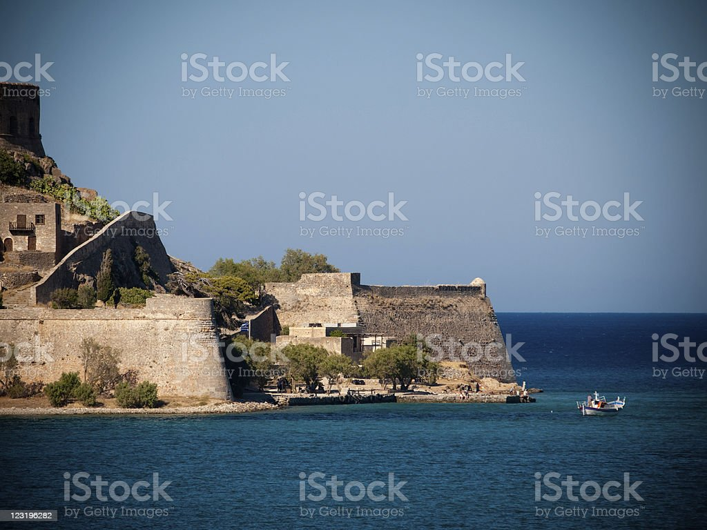 Spinalonga, Crete, Greece. stock photo