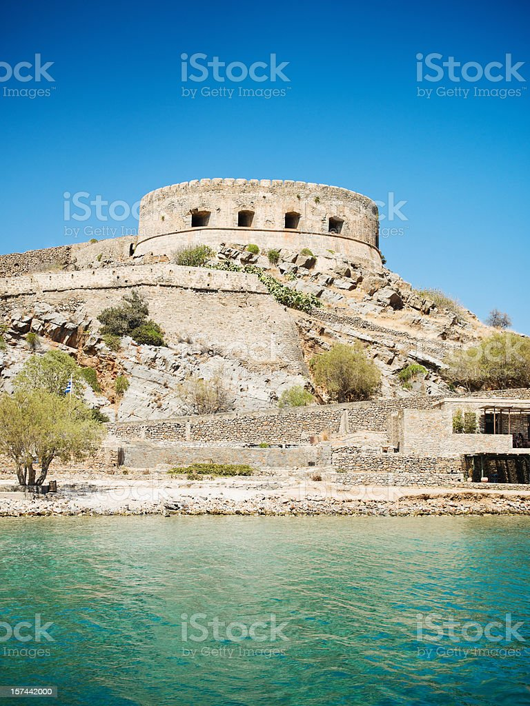 Spinalonga Crete Greece stock photo
