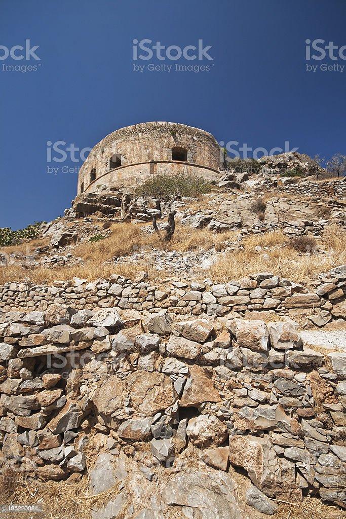 Spinalonga fortress stock photo