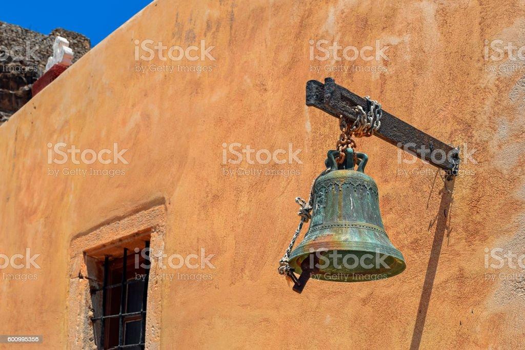 Spinalonga Island Fortress Church Bell stock photo