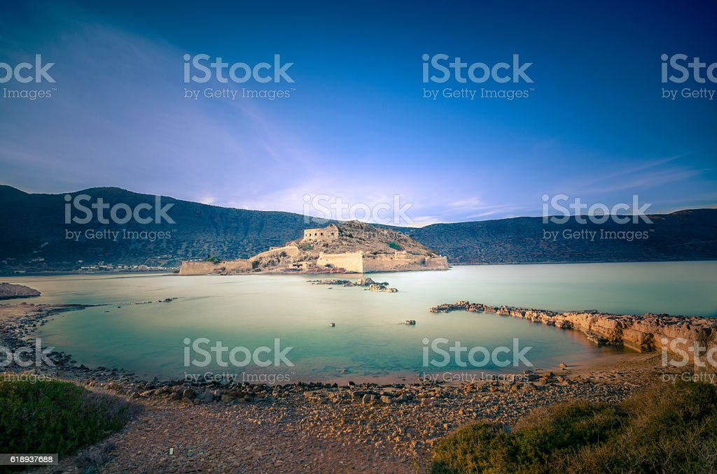 Spinalonga (Crete). stock photo
