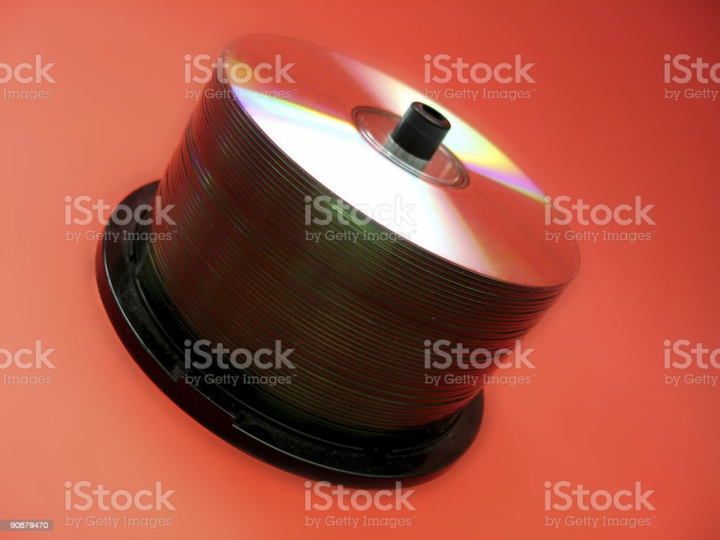 CD spindle 2 stock photo