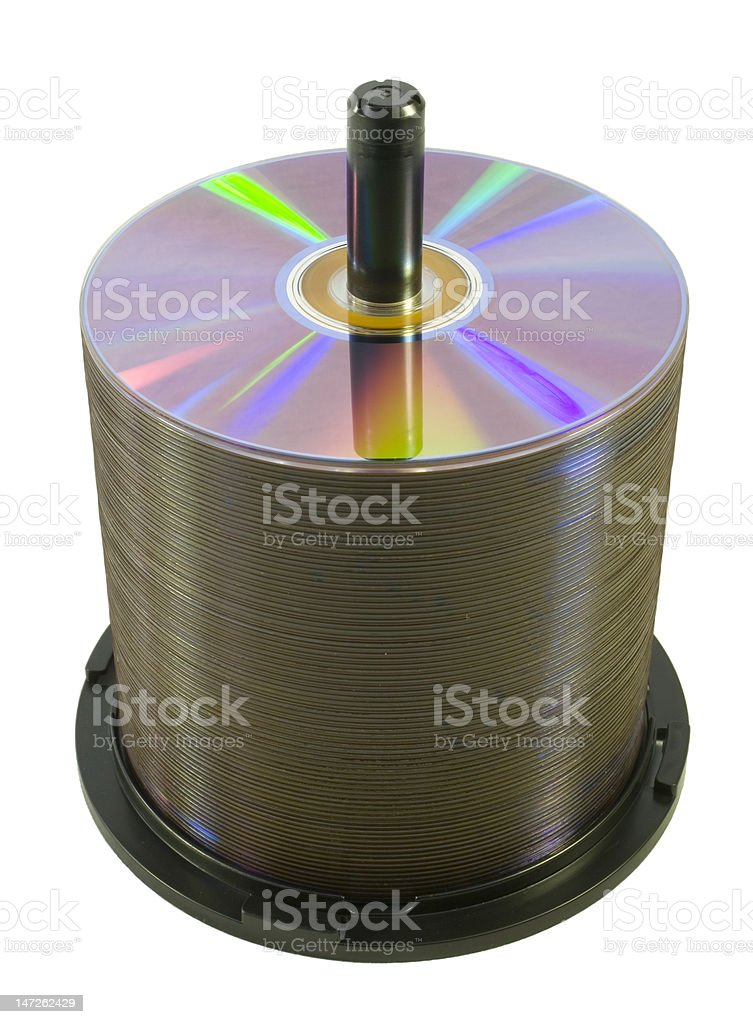 Spindle of Optical Digital Discs royalty-free stock photo
