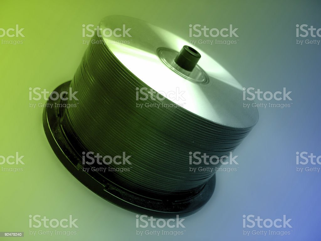 CD spindle stock photo