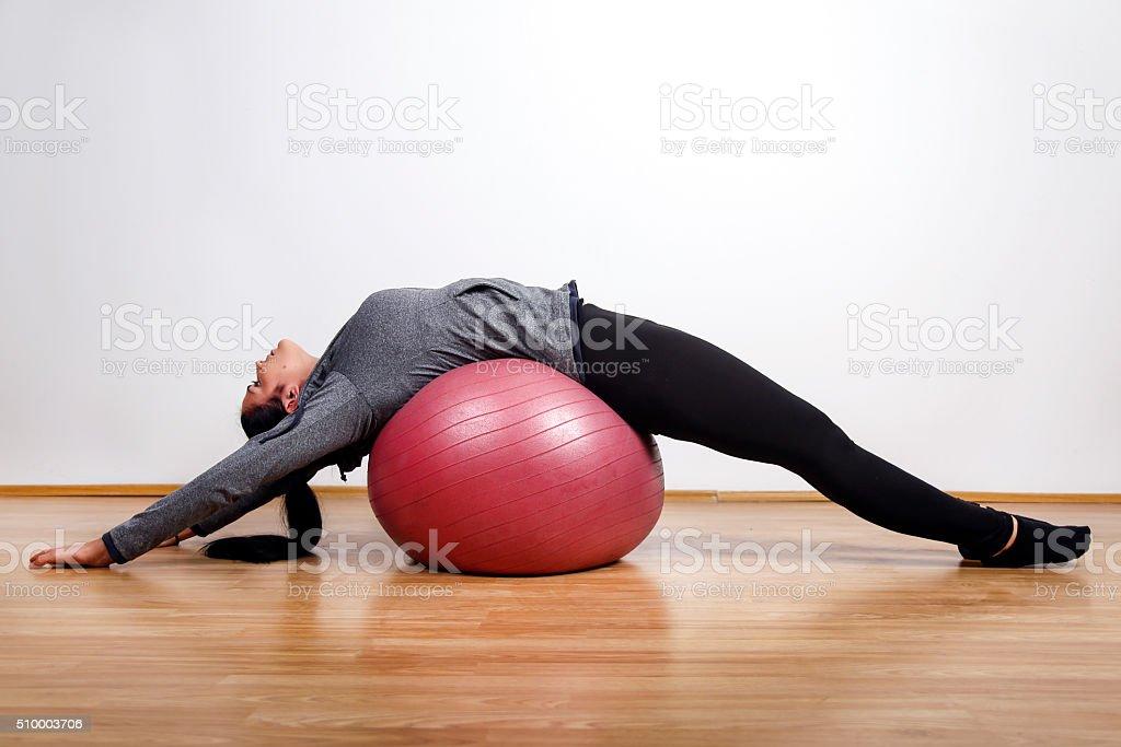 Spine exercise stock photo