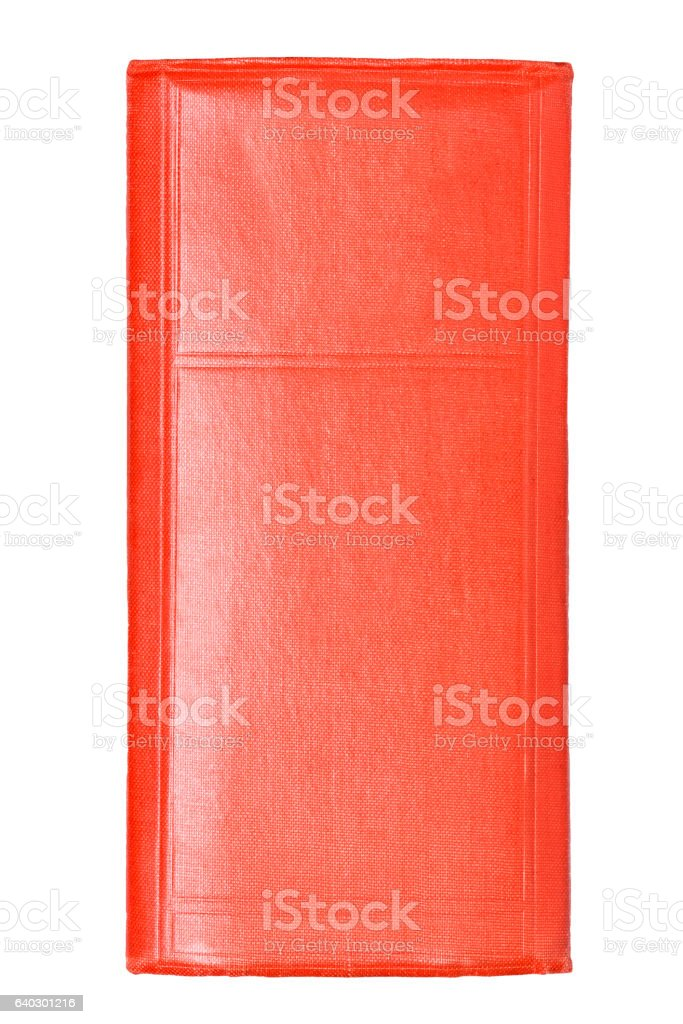 spine of red book stock photo