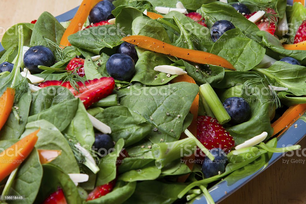 Spinich and Fruit Salad royalty-free stock photo