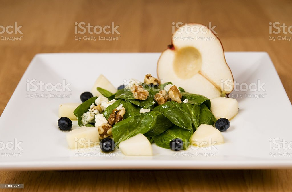 Spinich and Pear salad royalty-free stock photo
