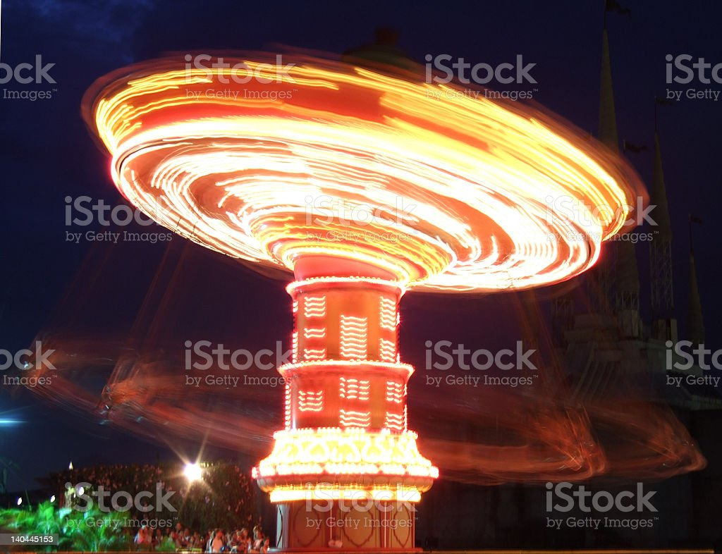 Spinner in the amusement park royalty-free stock photo