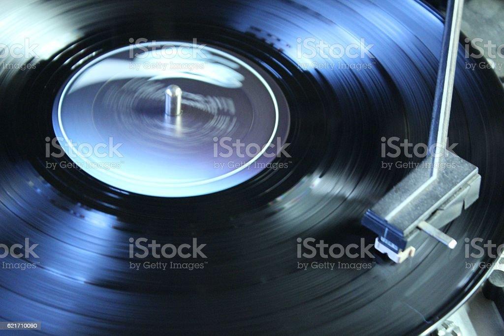 Spinning Album stock photo