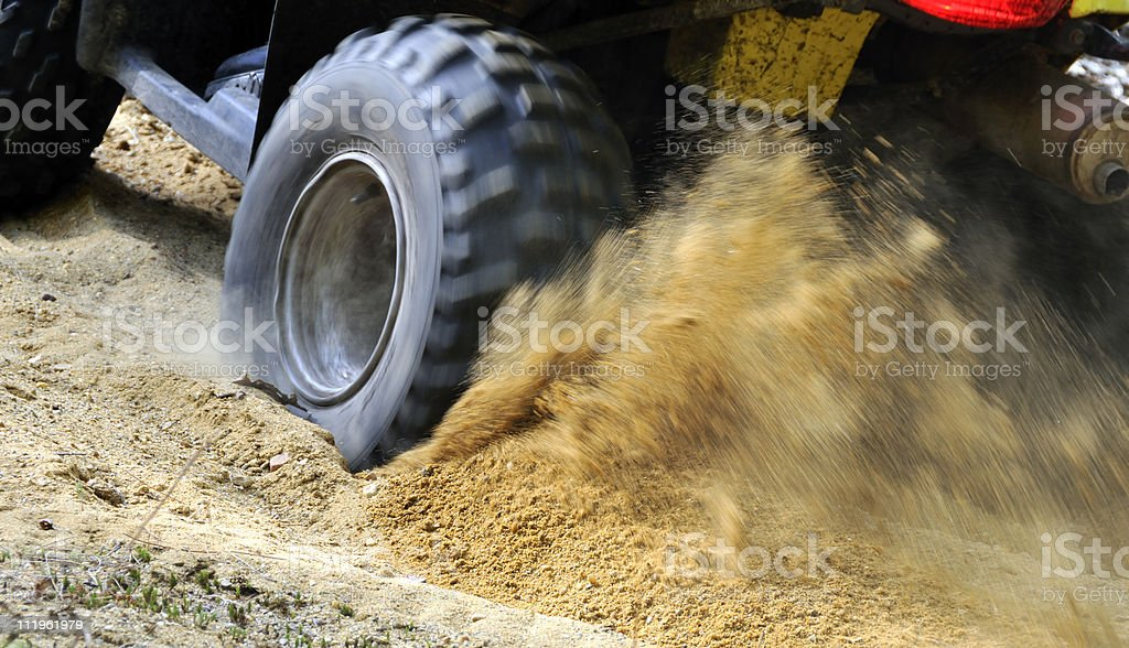 Spinning ATV Tire royalty-free stock photo