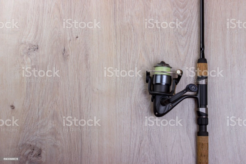 Spinning, baubles on a wooden background. stock photo