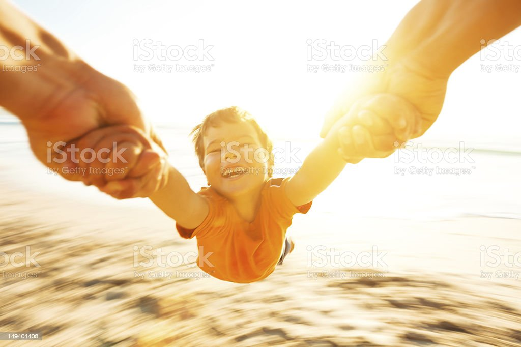 spinning boy stock photo