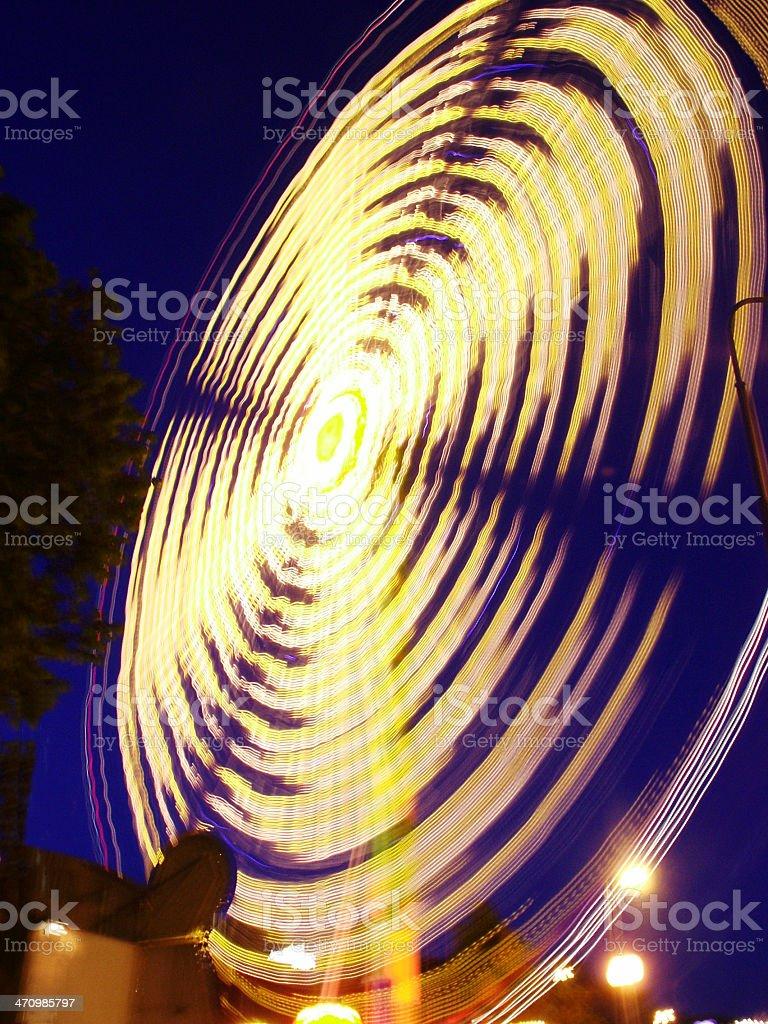 Spinning Carousel - Nightshot stock photo