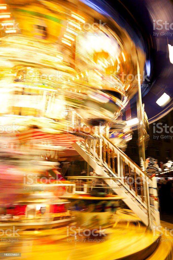 spinning carousel royalty-free stock photo