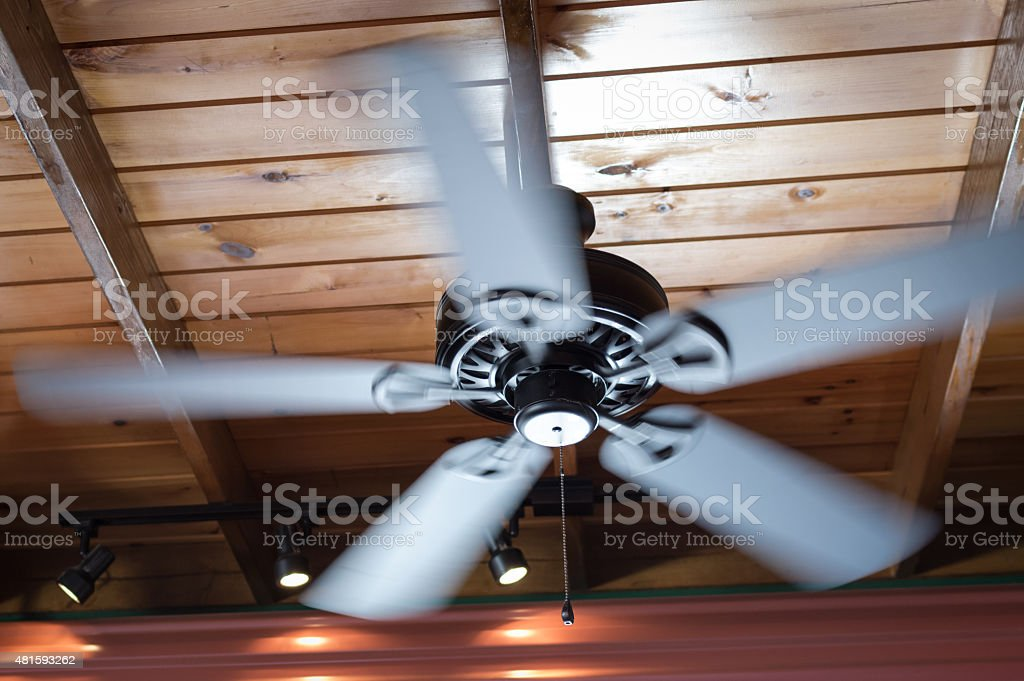 Spinning Ceiling Fan stock photo
