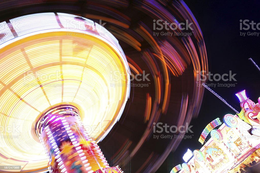 Spinning Chain Swing Ride royalty-free stock photo