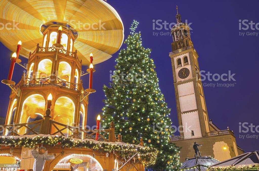 Spinning Christmas Pyramid stock photo