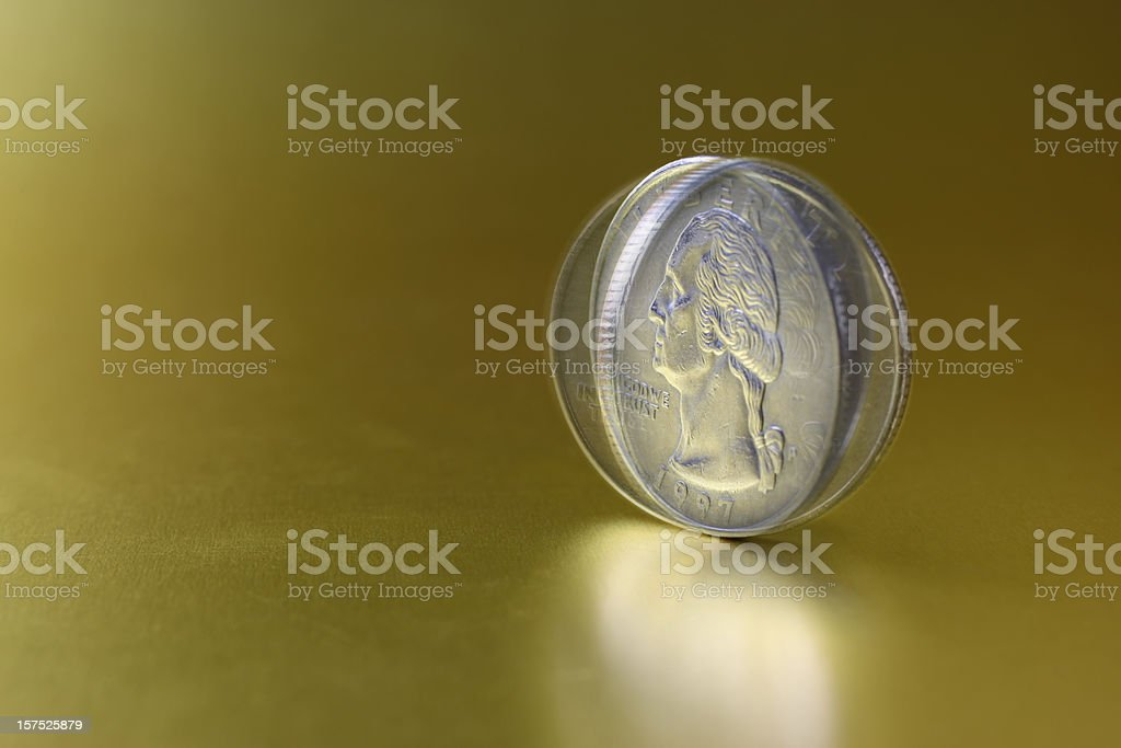 Spinning Coin stock photo