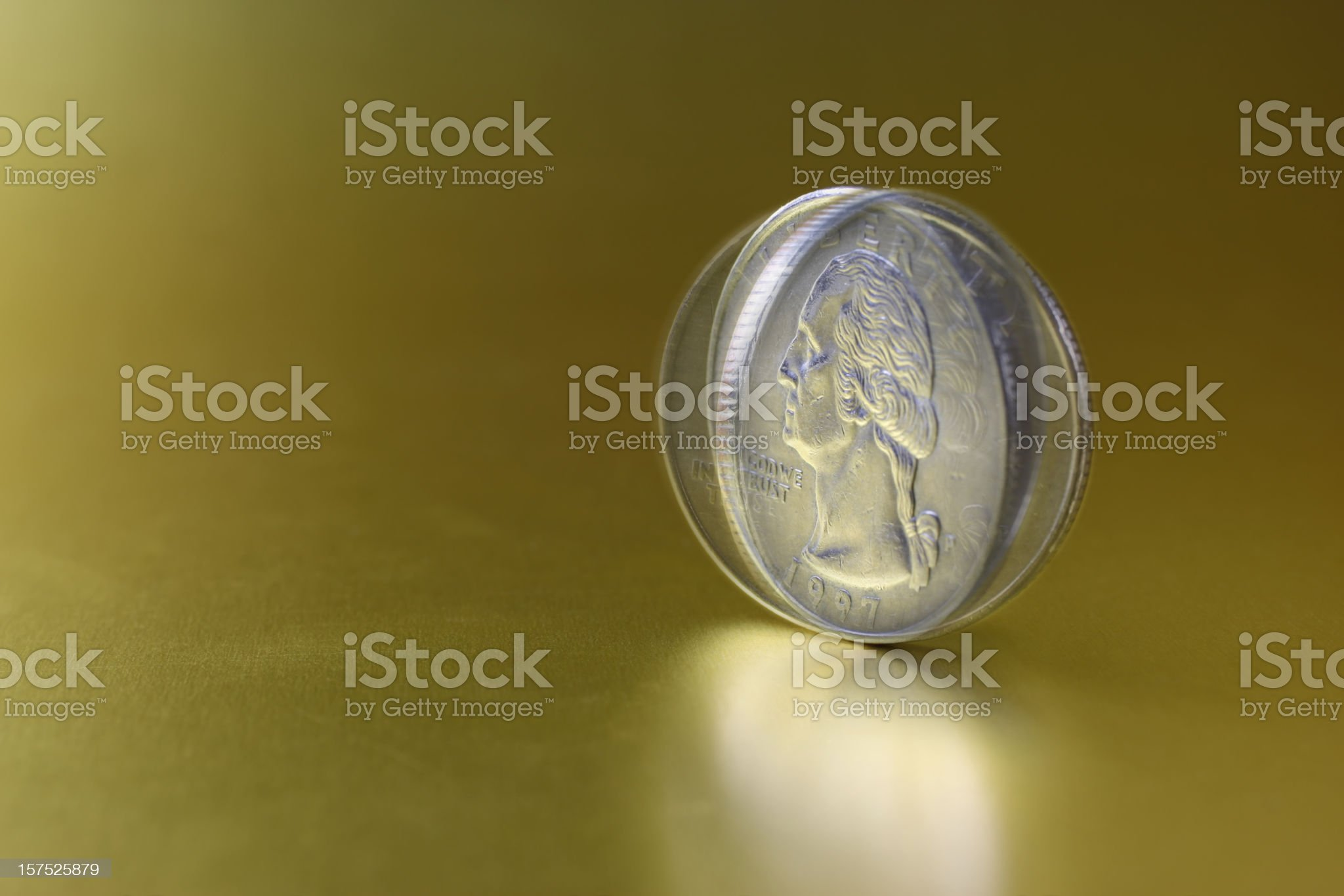 Spinning Coin royalty-free stock photo