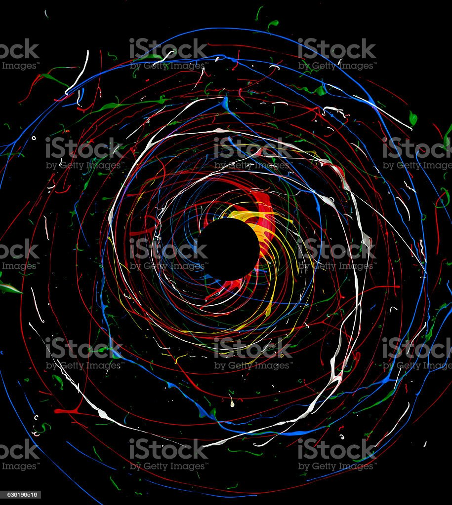 spinning color univerce stock photo
