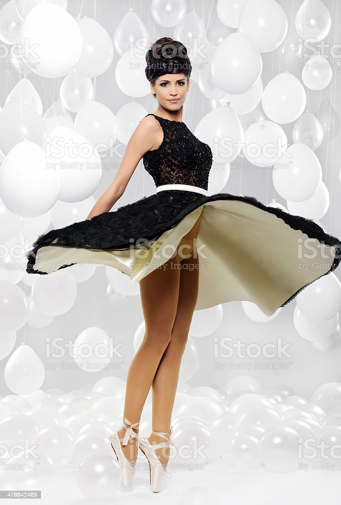spinning dress stock photo