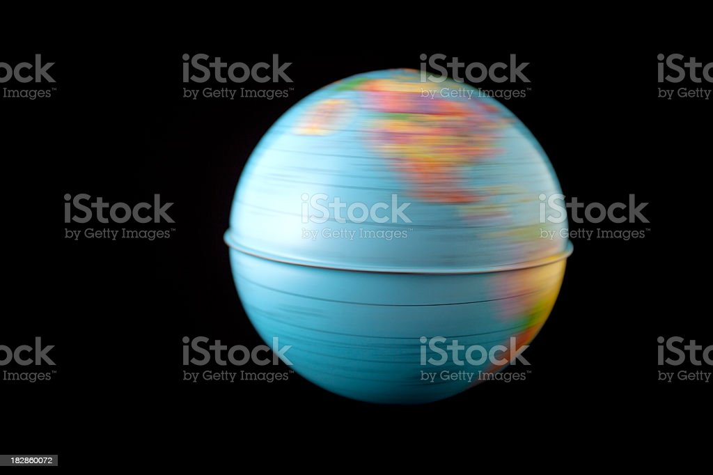 Spinning Earth stock photo