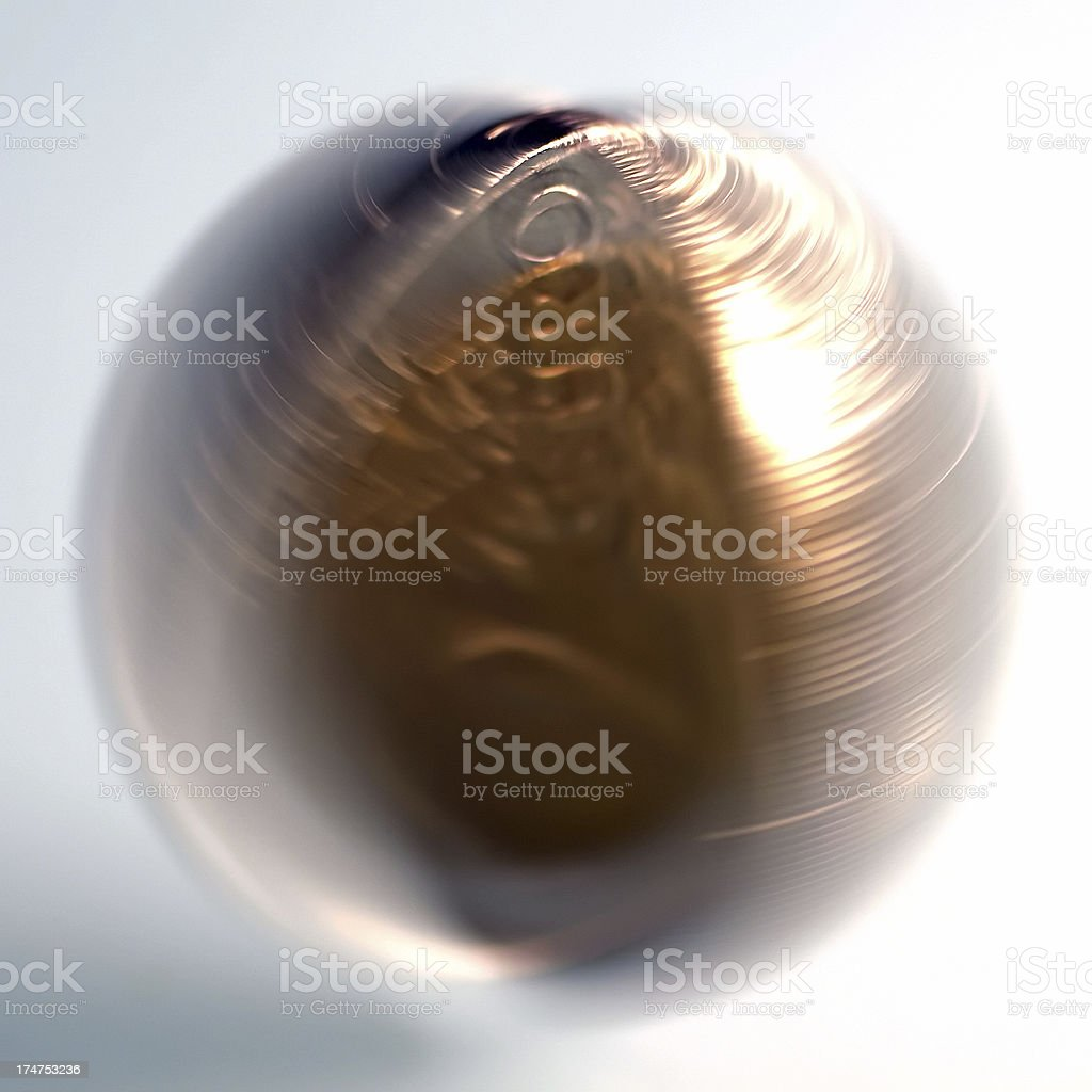 Spinning Euro Coin stock photo