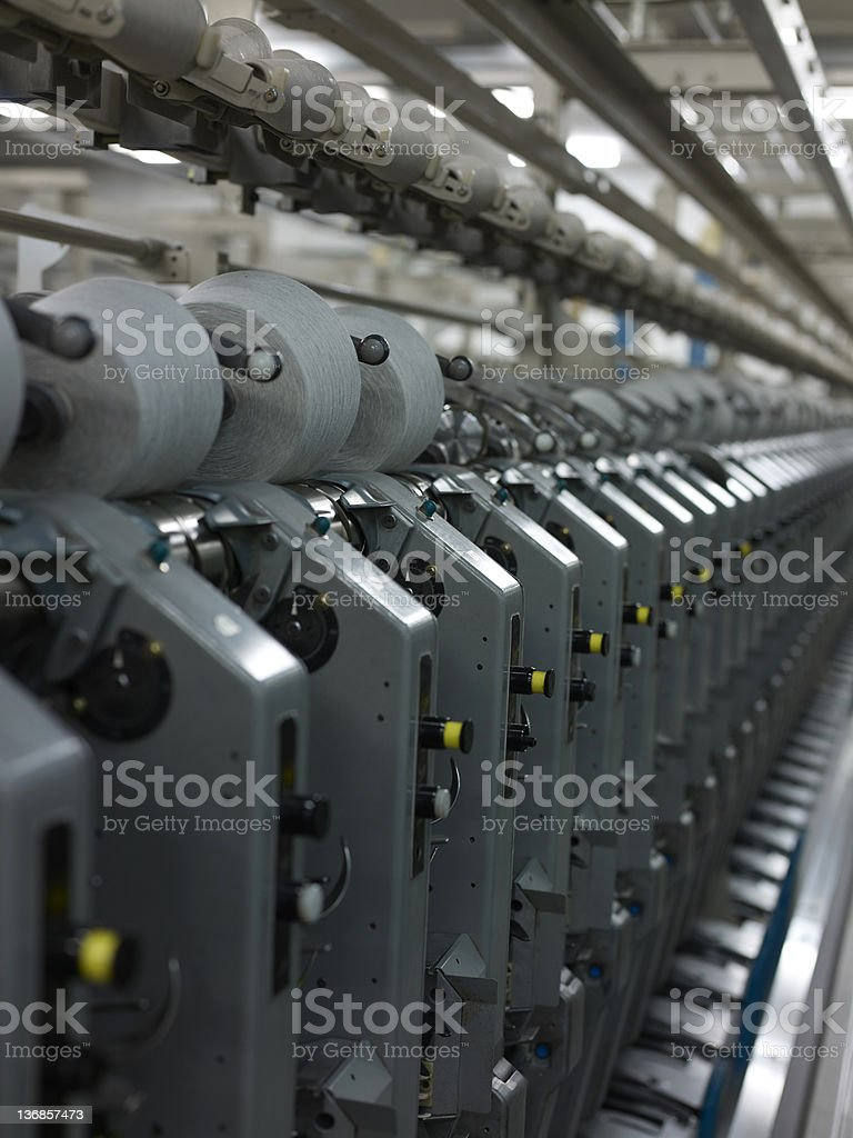 Spinning factory machinery royalty-free stock photo