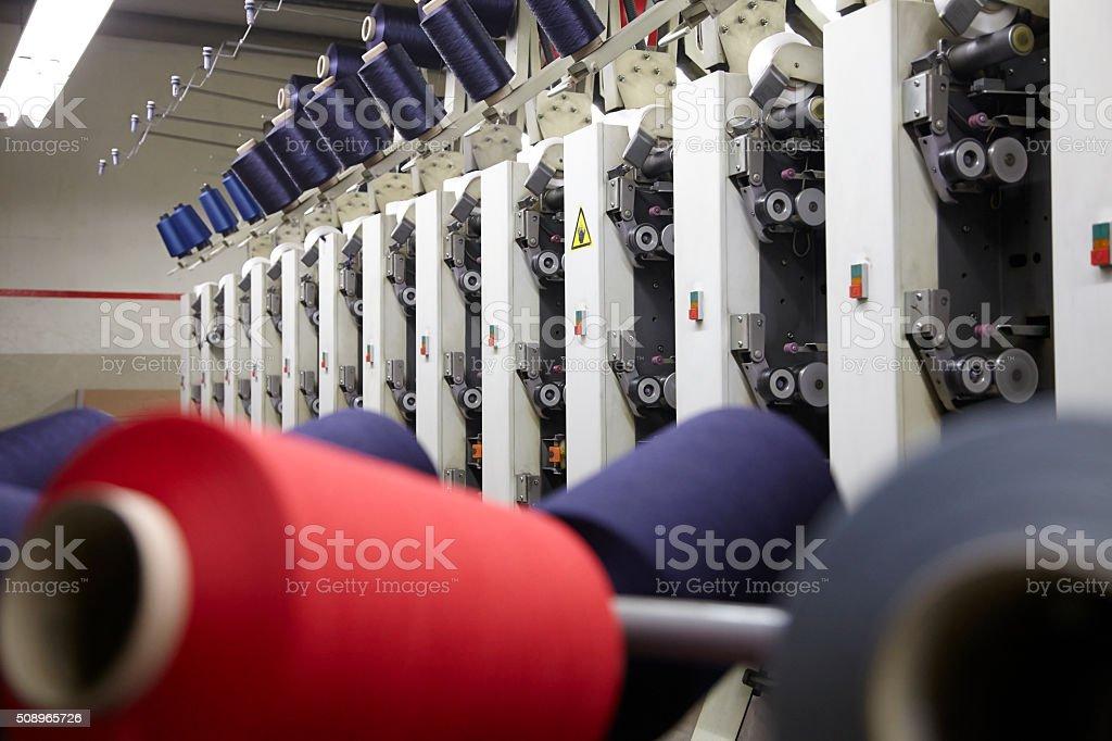 Spinning factory machinery stock photo
