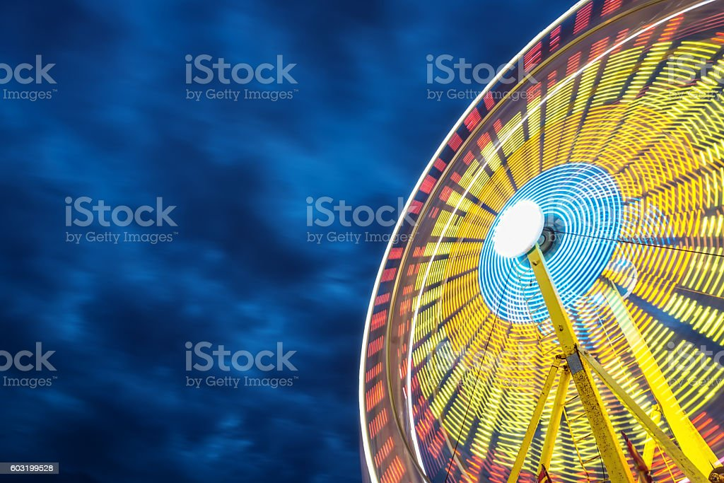 Spinning Ferris Wheel stock photo