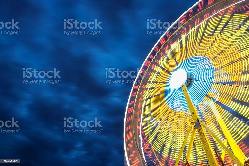 Spinning Ferris Wheel stock photo