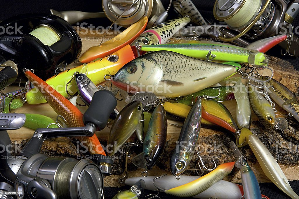 spinning fishing lure royalty-free stock photo