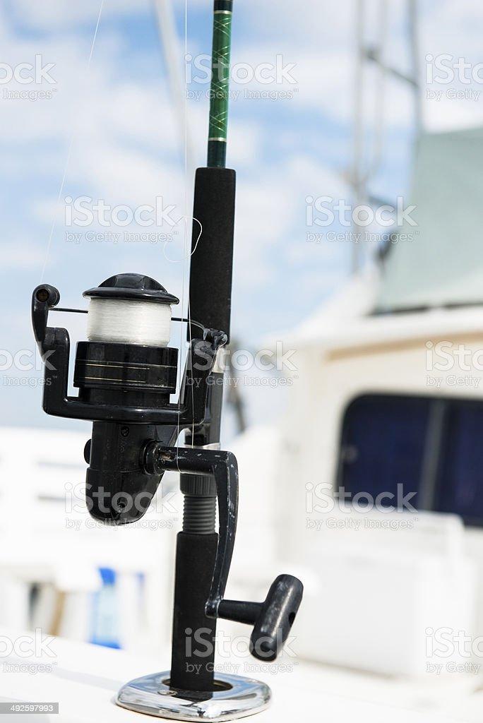 Spinning Fishing Reel royalty-free stock photo