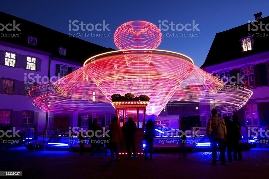 Spinning fun royalty-free stock photo
