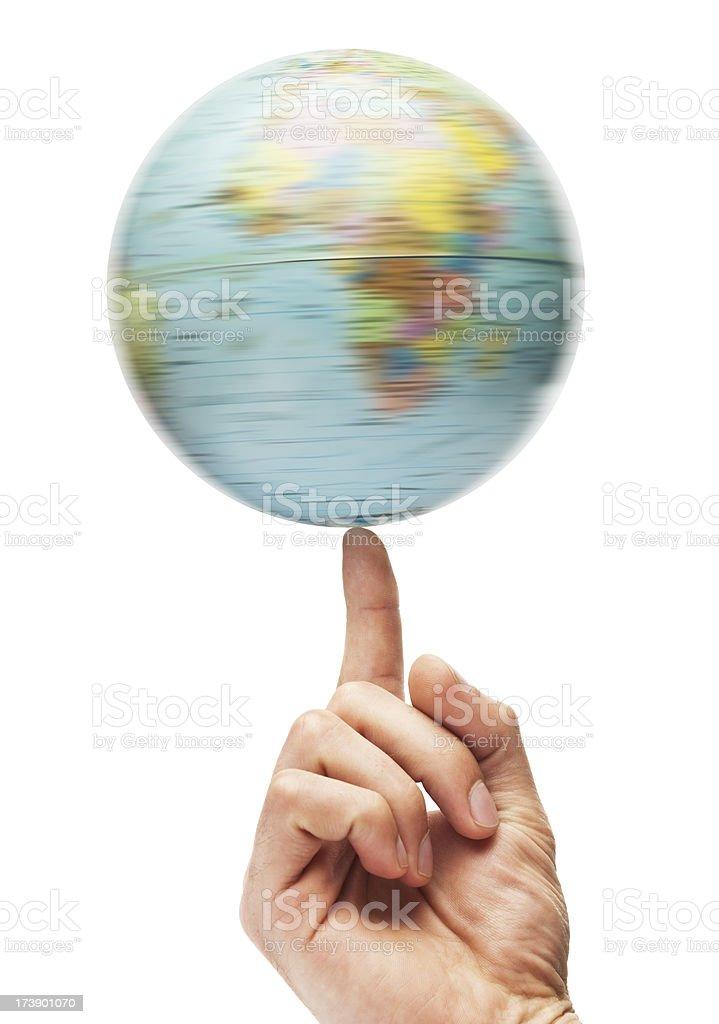 Spinning Globe stock photo