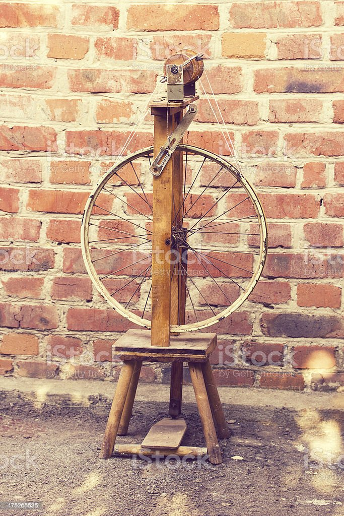 Spinning in vintage style stock photo
