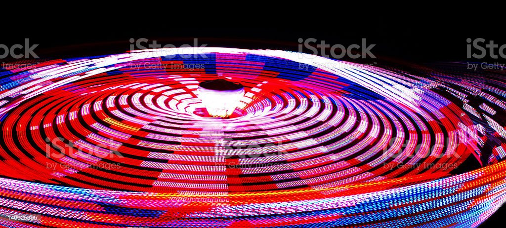 Spinning Lights royalty-free stock photo