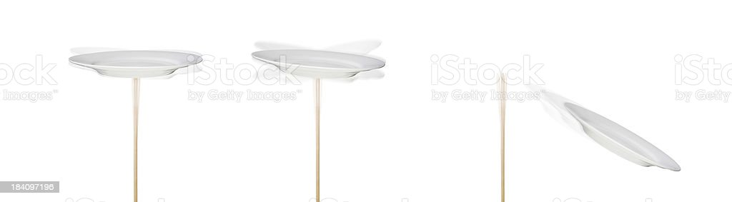 Spinning Plates royalty-free stock photo