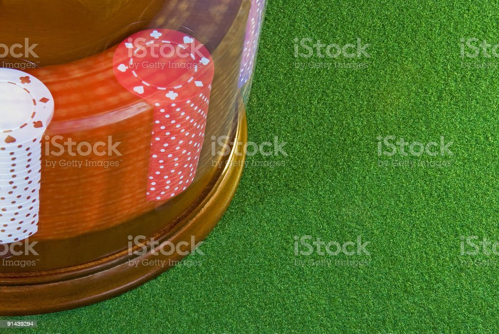 Spinning Poker Chips royalty-free stock photo