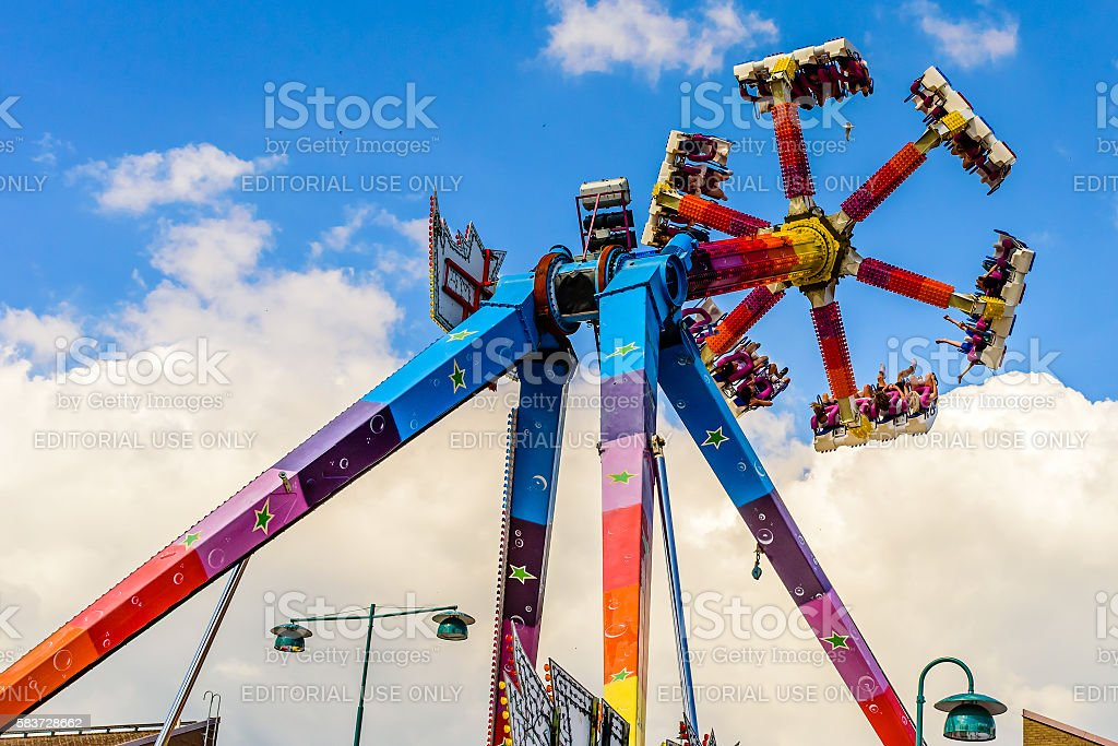 Spinning ride stock photo