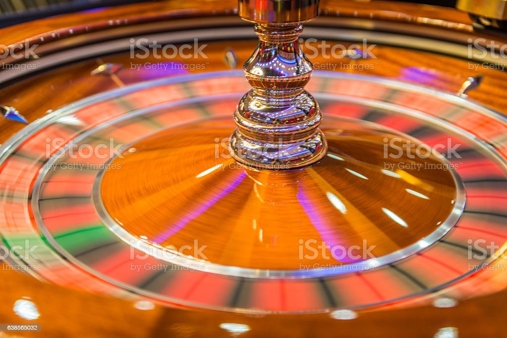 Spinning Roulette at Casino, Europe stock photo