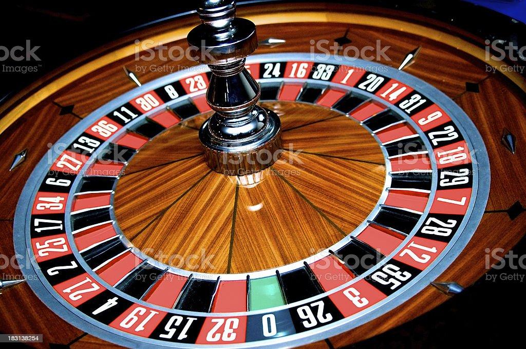 Spinning Roulette Wheel stock photo