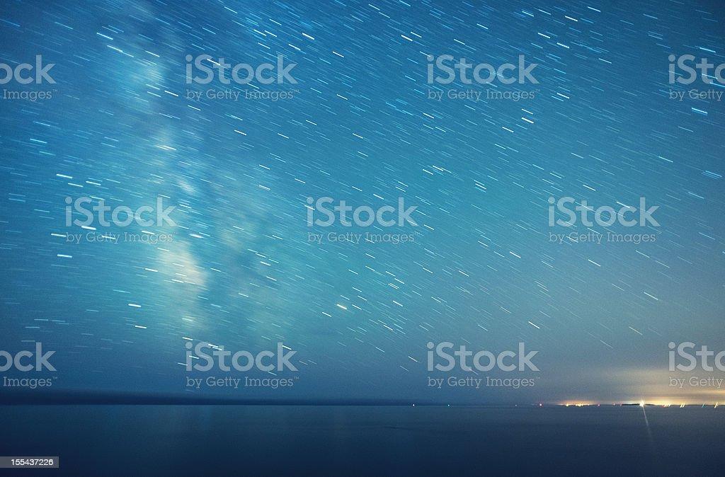 Spinning Skies stock photo