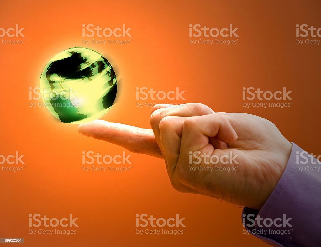 Spinning the World royalty-free stock photo